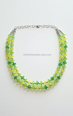 Hey, I found this really awesome Etsy listing at https://www.etsy.com/listing/262355212/green-statement-necklace-chunky-bib