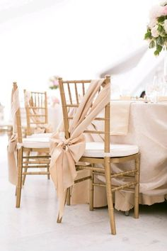 Blush Pink Chair Sash - something a little different to the popular 'chair cover and sash' Wedding Chair Decorations, Wedding Chairs, Wedding Chair Sashes, Decoration Evenementielle, Chair Bows, Blush And Gold, Blush Pink, Blush Color, White Gold