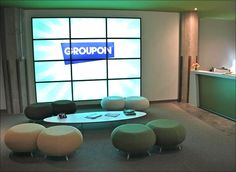 Groupon prides to have a great office. #Spectacular #Offices