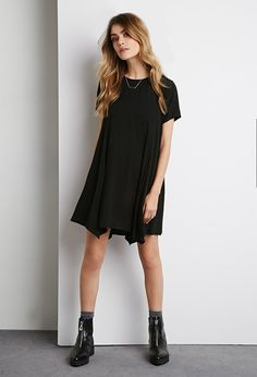 Pointed Hem Trapeze Dress | Forever 21 - 2000174207