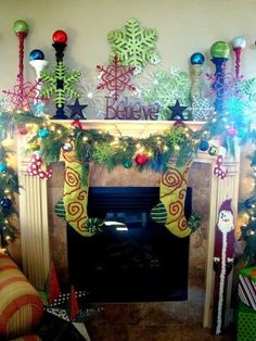 35 Beautiful Christmas Mantels - Christmas Decorating - by jeannine