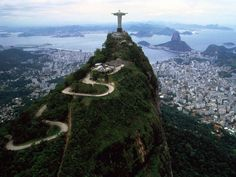 Christ the Redeemer (Portuguese: Cristo Redentor ) is a statue of Jesus Christ in Rio de Janeiro, Brazil; Beautiful Places In The World, Oh The Places You'll Go, Places To Travel, Travel Destinations, Places To Visit, Beautiful Hotels, Beautiful Things, Dream Vacations, Vacation Spots
