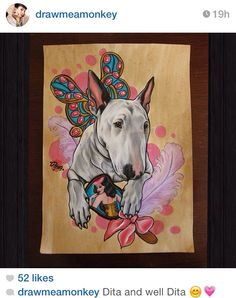 Bull terrier tattoo