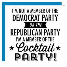 Member Of #Cocktail Beverage Napkin #politics