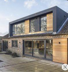 House Extension Design, Extension Designs, Roof Extension, House Design, Bungalow Loft Conversion, Dormer Loft Conversion, Loft Conversions, Cedar Cladding, House Cladding