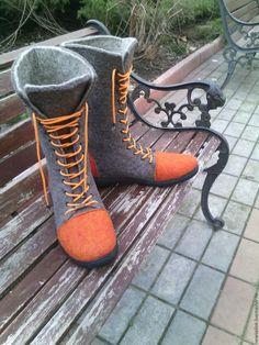 """Купить Мужские войлочные ботинки """"Артист"""" - ботинки валяные, мужские ботинки, купить ботинки"""