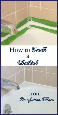 How To Caulk A Bathtub. I wished that I had learned this from my grandma before she died. Pinterest is wonderful.