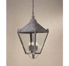 $958 Troy Lighting / classic four light outdoor pendant from the Preston Collection