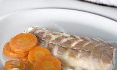 Receta de Lomos de lubina a la sal con verduras de primavera