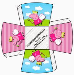 Peppa Pig Hada: cajas para imprimir gratis.