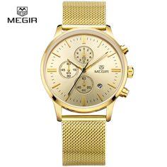 $47.80 (Buy here: https://alitems.com/g/1e8d114494ebda23ff8b16525dc3e8/?i=5&ulp=https%3A%2F%2Fwww.aliexpress.com%2Fitem%2FFashion-simple-stylish-Top-Luxury-brand-MEGIR-Watches-men-Stainless-Steel-Mesh-strap-band-Quartz-watch%2F32657988304.html ) Megir Fashion Mens Formal Quartz Wrist Watches Stainless Steel Mesh Band Waterproof Business Dress Watch Hour for Man New M2011G for just $47.80