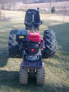 Welding Projects, Projects To Try, 4 Wheel Bicycle, Homemade Tractor, Farm Toys, Garage Shop, Small Farm, Lawn Mower, Landscape Design