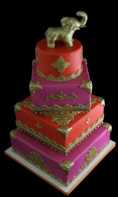 Indian Wedding Cake. If that was my religion this is what mine would look like. Maybe just for a shower or something! But smaller