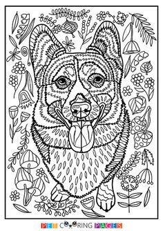 Corgi Coloring Pages Fresh Free Coloring Pages Animals Printable Best Free Printable – Coloring Page Dog Coloring Page, Doodle Coloring, Animal Coloring Pages, Coloring Book Pages, Coloring For Kids, Pokemon Coloring Pages, Colorful Pictures, Drawings, Cats