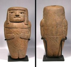Custom Display Stands for Two Chavin Tembladera Figures