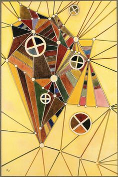 In the Network,1927,by Wassily Kandinsky