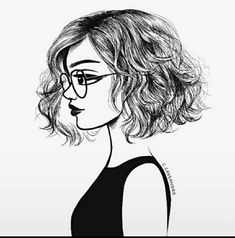 Art girl short hair 47 ideas for 2019 Black And White Girl, Black And White Drawing, Black Bob, Tumblr Sketches, Art Sketches, Girl Short Hair, Short Girls, Short Hair Drawing, Tumblr Outline