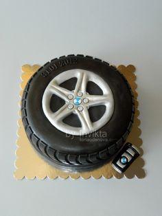 Bmw Tire Cake on Cake Central Fondant Cakes, Cupcake Cakes, Fondant Bow, 3d Cakes, Fondant Tutorial, Fondant Flowers, Fondant Figures, Bmw Torte, Bmw Cake