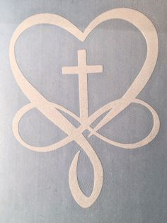 Cross Christian Infinity Heart Decal for your Yeti Rambler Tumbler Laptop Cup in Crafts, Home Arts & Crafts, Other Home Arts & Crafts Stencils, Christian Tattoos, Christian Drawings, Christian Symbols, Infinity Heart, Infinity Cross, Arts And Crafts, Diy Crafts, Silhouette Cameo Projects
