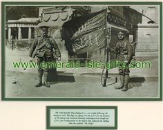 Easter Rising 1916 - British Troops Displaying Captured Free State Flag - $18.50 - Picture from British troops parading the captured Free State Flag which flew on top of the GPO during the 1916 Easter Rising which was auctioned in 2006 though its authenticity has been questioned.