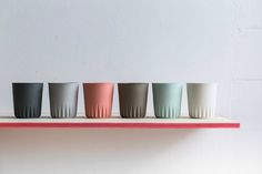 The simplicity, colours and forms have got us head over heels for these handmade ceramics by Kulor. Plus, some of the gorgeous photography is by our favourite, Studio Oink. Ceramic Tableware, Ceramic Pottery, Kitchenware, Geometric Origami, Keramik Design, Ceramic Coffee Cups, Notes Design, Cool Mugs, Cup Design