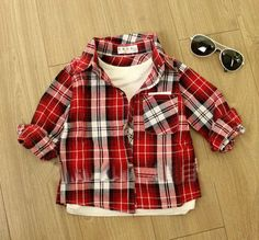 fba2e93ee97 Spring Autumn Baby Checked Shirts 100% Cotton Children Plaid Shirts Kids  Blouses Boys girls Clothes Sizes 6M- 4T Online with  14.75 Piece on  Comely2015 s ...