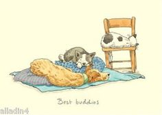 Two bad mice - best #buddies - #blank #greeting / birthday card - a6 - cats & dog,  View more on the LINK: http://www.zeppy.io/product/gb/2/231775937774/