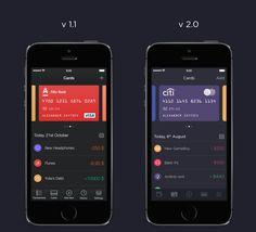 Walle Finance App by Alexander Zaytsev Mobile Ui Design, App Design, Text Layout, Mobile App Ui, Dashboard Design, User Interface Design, Web Design Inspiration, Finance, Dashboards