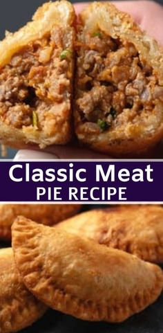 Easy Pie Recipes, Meat Recipes, Mexican Food Recipes, Appetizer Recipes, Cooking Recipes, Meat Appetizers, Curry Recipes, Hamburger Pie Recipes, Meat Hand Pie Recipe