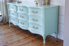 french provincial dresser in mint, bedroom ideas, painted furniture                                                                                                                                                     More