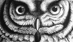 Artist - Ttirremt   Owl is created by stippling.