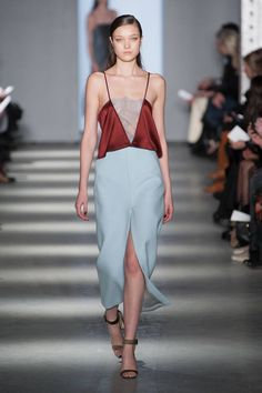 {wes gordon - gorgeous mix of deep reds, blues, and neutral heels}