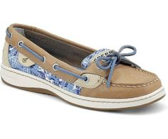 SPERRY TOP SIDER WOMENS BOAT SHOE ANGELFISH LINEN BLUE SEA 9265968 BNIB