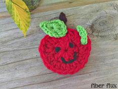 Fiber Flux...Adventures in Stitching: Free Crochet Pattern...Happy Apple Applique!