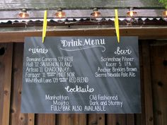 Chalkboard Sign ~ perfect!