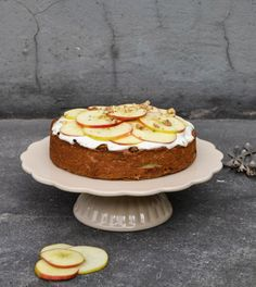 Apple and chickpea cake would make a tasty and nutritious breakfast actually (does not contain flour)