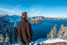 Seeing snow for the first time while visiting oregon and crater lake