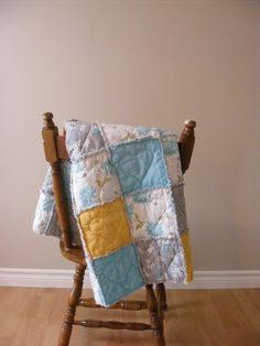I recently made a crib sized rag quilt for a friend's baby shower. It is very similar to this rag quilt that I've blogged about before , ...