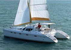 Privilege 495 Catamaran Charter, 4 cabins, 8+2 berths. Available for charter in Greece and France.