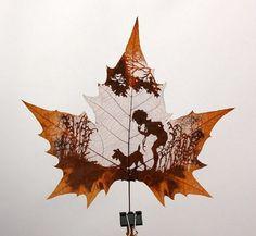 Невероятное искусство – картины на листьях деревьев. Резьба по листьям. Запись у пользователя denisbeta — vtambove.ru