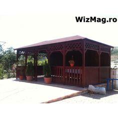 Foisor rustic dreptunghiular Mangalia Gazebo, Outdoor Structures, Outdoor Decor, Home Decor, Italia, Kiosk, Decoration Home, Room Decor, Pavilion