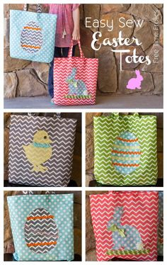 Easy sew easter tote diy easter sewing projects and simple sewing easy sew easter tote diy negle Choice Image