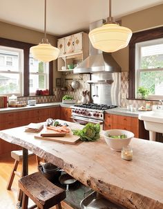 Live-Edge Dining Table in Kitchen | The Best Wood Furniture