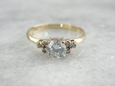 Classic Vintage Diamond Engagement Ring with by MSJewelers, $1415.00 || Oh so pretty and dainty! I love it!