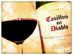 I've not had red wine for so long and it tastes just as good as I remember it. Bottle of Red, Casillero del Diablo. School night.
