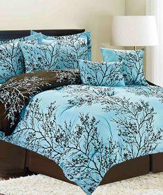 Aqua Magic Vine Comforter Set