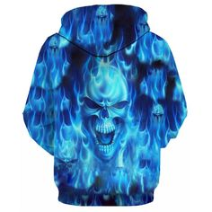 Balls of Fire 3D Skull Hoodie | X-Skull God-X