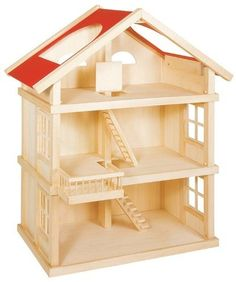 Large Wooden Dolls House: Only from Toyday Toyshop. A simple three storey wooden dolls house with easy access. Wooden Dollhouse, Diy Dollhouse, Large Wooden Dolls House, Wooden Castle, Doll House Plans, Toy House, Miniature Houses, Wood Toys, Home Accessories