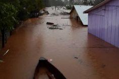 Inundación en El Soberbio, Misiones.