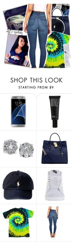 """""""« that girl is a real crowd pleasa, small world all her friends know me »"""" by p-rojectbaby ❤ liked on Polyvore featuring Samsung, Make, Effy Jewelry, MICHAEL Michael Kors and Vans"""